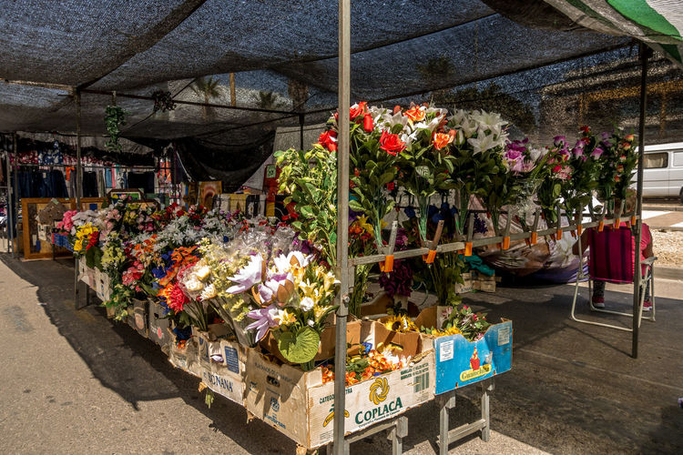 Variation Flower Choice Flowering Plant Small Business Plant Retail  Freshness For Sale Market Stall Market Business Multi Colored Day Bouquet Flower Arrangement Retail Display No People Outdoors Sale Order Almería SPAIN Market Street Market