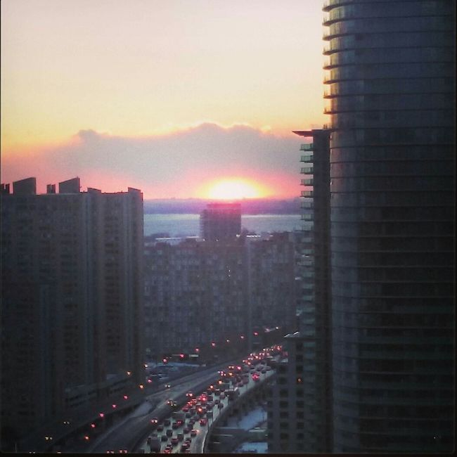 Toronto Sunset Human Meets Technology Lakeshore Views From The 6ix Condo View Traffic Sony Z2 Photography