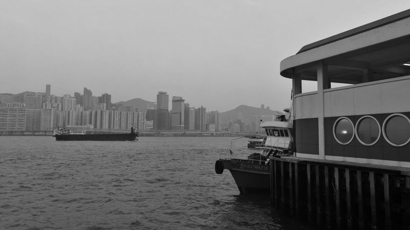 Skyscraper Nautical Vessel Building Exterior Urban Skyline Cityscape Wandering Around Aimlessly Wanderlust Street Photography EyeEm Hong Kong EyeEm Gallery Huaweiphotography Photograph Like Painting HuaweiP9 Art Is Everywhere ASIA Tourist Destination Monochrome Photography Black And White Monochrome Eyeem Monochrome Monochrome World