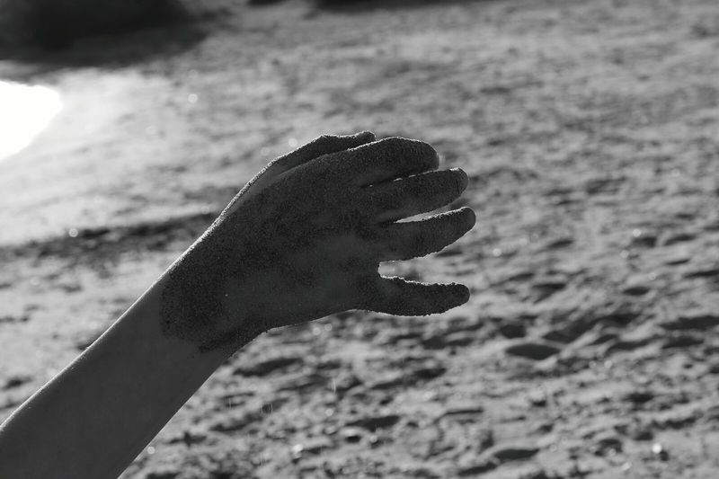 Kids hand Outdoors Day Close-up Water Nature EyeEmNewHere Love Sand Blackandwhite Photography Monochrome_life The Portraitist - 2017 EyeEm Awards Outdoorshot Playing With Sand Childeren Sunny Day Handsup  The Great Outdoors - 2016 EyeEm Awards