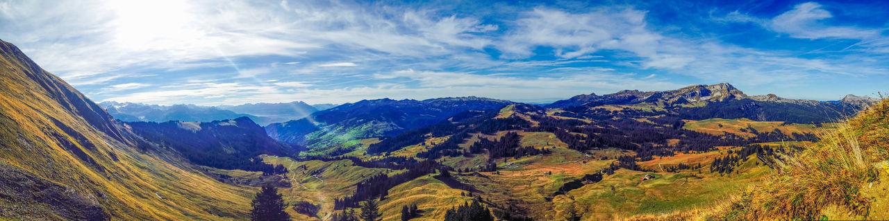Beautiful Switzerland Beauty In Nature Landscape Mountain Nature No People Panoramic Sky Switzerland