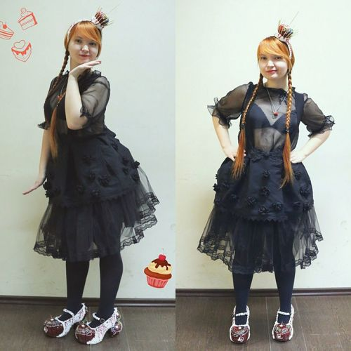 """Being a model in """"Darkness & Candy"""" collection. So I was an gothic and sweet like Lolita!!! :-) Model Hanging Out Today's Hot Look Fashion&love&beauty"""