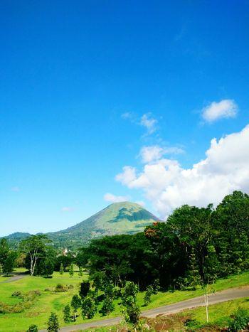 Amazing blue sky at Lokon mount Mountain Blue Nature Landscape Sky Outdoors Mountain Range Travel Destinations Summer Cloud - Sky Beauty In Nature INDONESIA Sulawesiutara