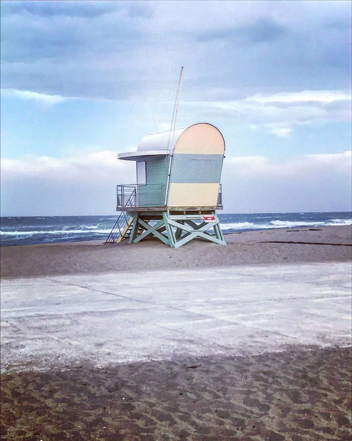 Sea 🌊 Sea Beach Sand Horizon Over Water Lifeguard Hut Water Lifeguard  Sky Nature Safety Protection Shore Tranquility Tranquil Scene Cloud - Sky Day Beauty In Nature Scenics Outdoors Built Structure