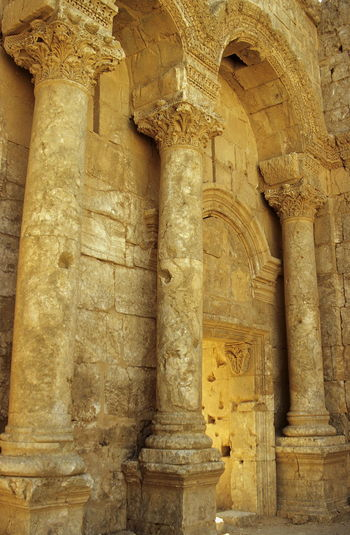 Ancient Ancient Civilization Antiquity Archaeology Architectural Column Architecture Built Structure Day Entrance Gate History No People Old Ruin Outdoors Rasafa Resafa Roman Antiquity Sergiopolis Stone Stone Wall Syria  Tourism Travel Travel Destinations Wall