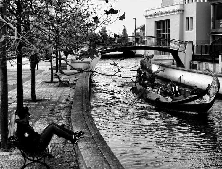 waitin' Portugalbnw Bnw_of_our_world Bnw Bnw_globe Bnwsouls Bnw_city Bnw_magazine Bnw_of_the_world Bnwpics Weshareportugal Bnw_captures Blackandwhitephotography Blackisbeautiful Built Structure Architecture Water Building Exterior Tree Transportation Nautical Vessel Nature Mode Of Transportation Footpath Outdoors City