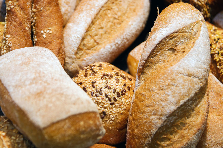 Close-up of bread in store