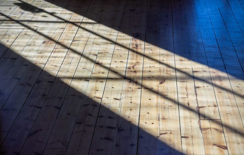 Shadow Sunlight Day Nature Pattern No People Architecture Built Structure Wood - Material Wood Sunny Flooring Blue