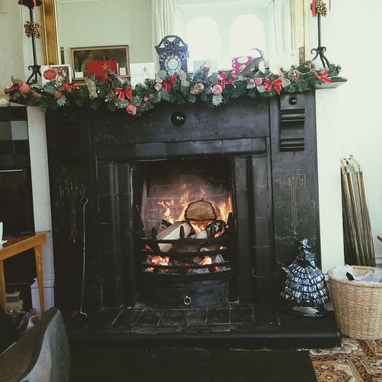 Christmas Fireplace Realfire Beautiful Housing Oldfarmhouse Amazing