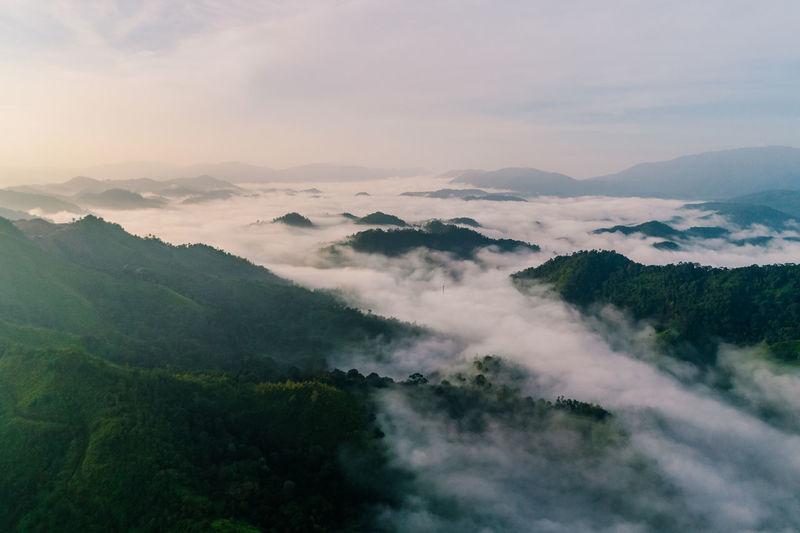 Bukit Panorama, Kuantan, Pahang Bright Drone  Green Hiking Kuantan Nature Sunny Clouds Day Malaysia Mist Pahang Summer Tropical