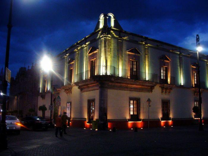 """""""Casa de la Cultura"""" Mexico Aguascalientes Illuminated Night Architecture No People Cityscape"""