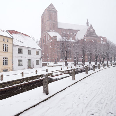 view of snow covered buildings in city Historical Building Mecklenburg-Vorpommern Winter Winterscapes Architecture Beauty In Nature Building Exterior Built Structure City Clear Sky Cold Temperature Day Germany Nature No People Old Buildings Oldtown Outdoors Philipp Dase Sky Snow Snow Covered Snowing Tree Weather Winter Winter In The City Wismar