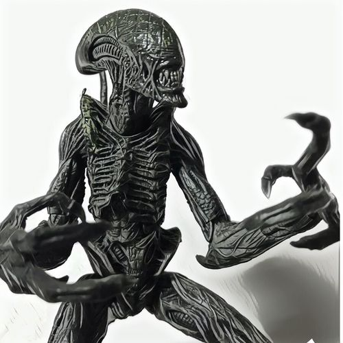 Grid Alien Toy Figure Xenomorph Figure Xenomorph Alien No People Low Angle View Toy Figure Retouch Cellularphotography