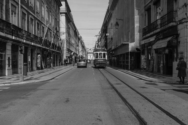 Tram In City Street