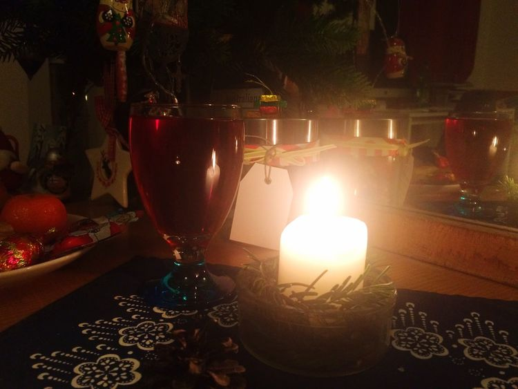 Fruit & nuts & chocolate & Campari Christmas Spirit