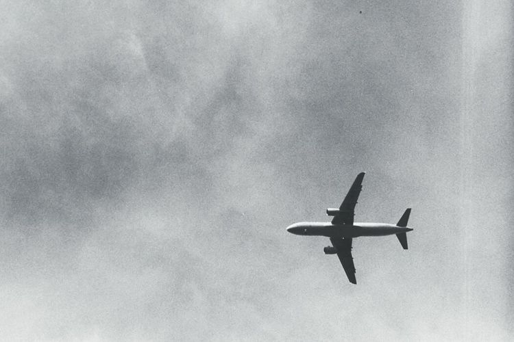 Sky Plane Leicam Analogue Photography Blackandwhite Black & White Black And White Analog Analog Airplane Sky Is The Limit Sky And Clouds Sky_collection Capturing Freedom Like A Bird Sunday Berlin Freedom Learn & Shoot: Simplicity