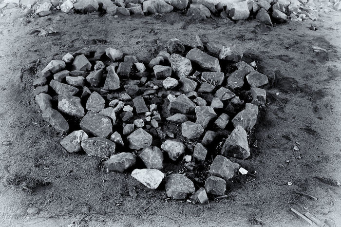Heart of Stone Land Large Group Of Objects High Angle View Nature Solid Day No People Rock Abundance Outdoors Stone - Object Field Rock - Object Still Life Close-up Dirt Gravel Heap Food And Drink Coal Heart Love Romance Sentimental Blackandwhite