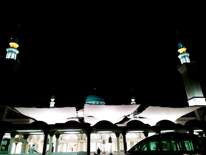night sky Islamic Centre Mosque Mosque Architecture Tents Membrane Membranestructure Light And Shadow City Nightlife Architecture