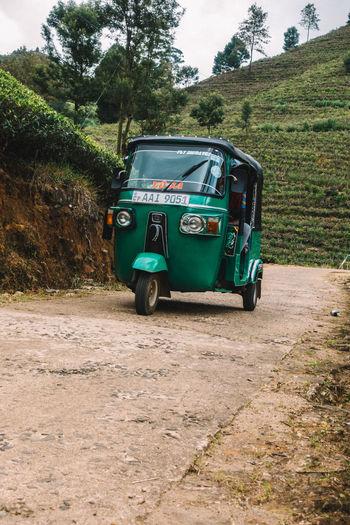 Vintage car on road