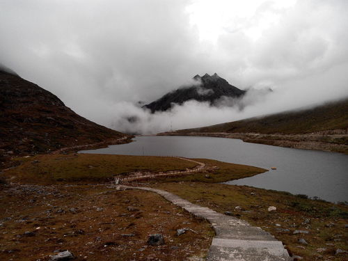 'Se La Pass',Arunachal Pradesh,India. Se La Pass Cloud Covering Mountain Top Mountain View Lakesideview Landscape Natural Beauty Scenery Shots Stairs To Lake Outdoor Photography Travel Destinations Perspectives On Nature EyeEmNewHere