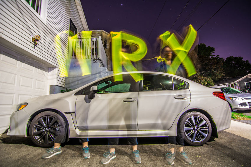 Car Land Vehicle Light Painting Photography Night Outdoors Subaru Wrx Transportation Wrx