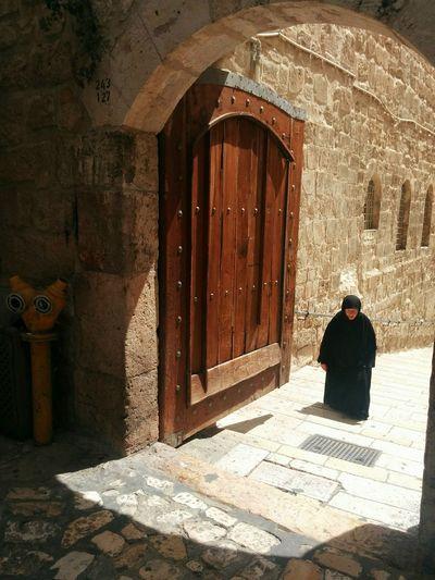 Women Real People Religion Spirituality Jerusalem Israel Holy Sephulchre Christian Quarter Daylight Outdoors