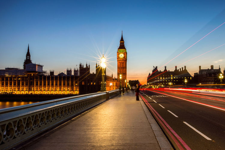 Bigben sunset Architecture Bigben People Architecture Blurred Motion Bridge Bridge - Man Made Structure Building Building Exterior Built Structure City Cityscape Clock Tower Connection England Government Illuminated Light Trail Long Exposure Motion Outdoors Sky Tourism Tower Transportation Travel Destinations Uk