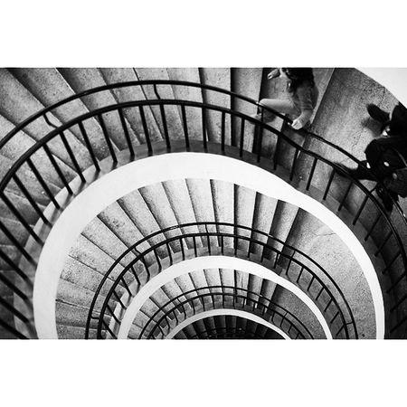 Abstract . Loop Staircase . at the DeutchesMuseum museum. Taken by MY SonyAlpha Dslr A57 . münchen Munich bayarn Bavaria Germany Deutschland. متحف درج ميونخ المانيا بافاريا