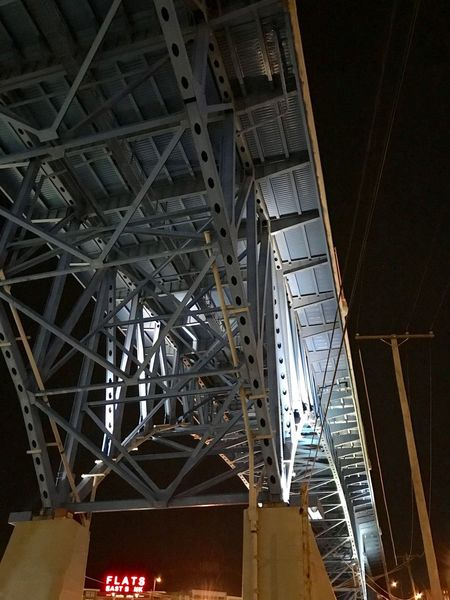 Bridge - Man Made Structure Low Angle View Architecture Built Structure Connection Metal Bridge - Man Made Structure Indoors  No People Girder