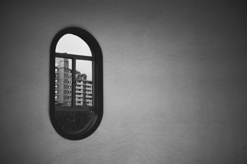 Through the window Blackandwhite Monochrome Simplicity Looking To The Other Side Negative Space Shapes