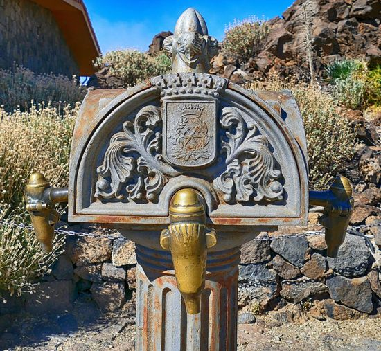 water pump at Teide National Park Close-up National Park Teide National Park Tenerife Tenerife España Tenerife Island Tourism Tourist Attraction  Waterpump