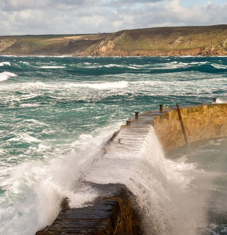 Rough seas at Sennen Cove Sea Water Wave Beach Beauty In Nature Nature Scenics Day No People Outdoors Cloud - Sky Sky