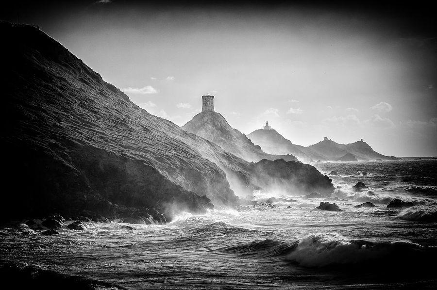 Water Sky Wave Sea No People Rock Iles Sanguinaires