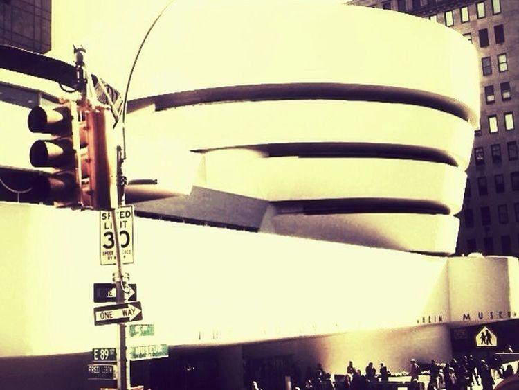 At Guggenheim Museum