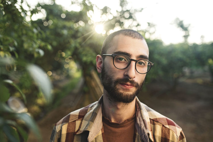 Adult Adults Only Beard Close-up Confidence  Day Eyeglasses  Headshot Hipster - Person One Man Only One Person One Young Man Only Only Men Outdoors People Portrait Tree Young Adult