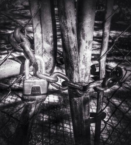 Locked up and forgotten Urbex Black & White Monochrome AMPt_community