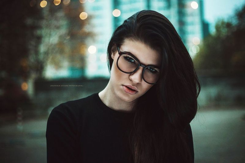 THE DARKNESS 💕 One Person Eyeglasses  Real People Lifestyles Beautiful Woman Young Adult Headshot Beauty Portrait Young Women Glasses Night Indoors  Close-up People Adult Agenturmodel Follower Zigarette Studio Shot Portable Information Device Only Women Eyeglasses  Beautiful People Human Face