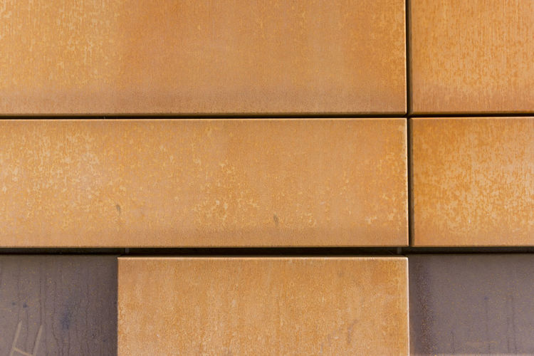 Close-up of orange-colored tiles at wall Architecture Berlin Germany 🇩🇪 Deutschland Horizontal Lines Shape Backgrounds Close-up Color Image No People Orange Color Pattern Rectangle Shape Textured  Tile Tiles Wall - Building Feature