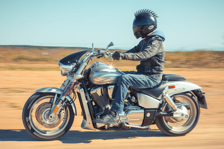 Biker Casual Clothing Crash Helmet Day Full Length Jacket Land Vehicle Leisure Activity Lifestyles Men Mode Of Transportation Motorcycle Nature One Person Outdoors Real People Ride Riding Road Sitting Sky Transportation My Best Travel Photo