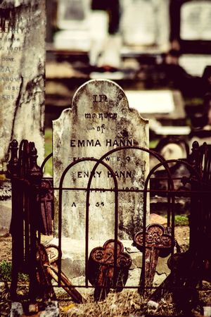 Weathered Stone Outdoors Nikon D5100  Cemetery Photography No People Peaceful Gravemarkers Iron Fence