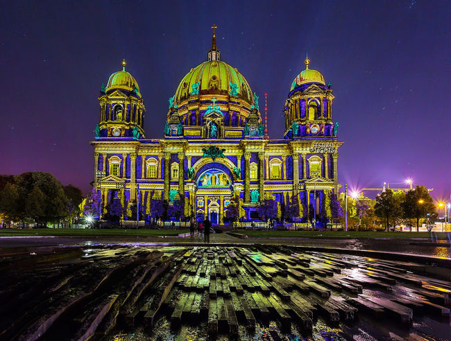 Architecture Berlin Berlin Catheral Berlin Dome  City Cultures Dome Festival Festival Of Lights Festival Of Lights 2015 Illuminated Light Night No People Outdoors Place Of Worship Religion Sky Spirituality Travel Destinations