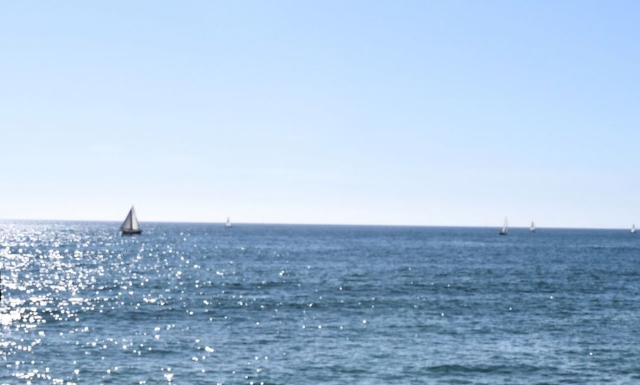sailing.. Check This Out Landscapes With WhiteWall Ocean Diminishing Perspective Distant Horizon Over Water California Venice Beach Boat Water Sea And Sky EyeEm Best Shots EyeEm Gallery TheWeekOnEyeEM Travel