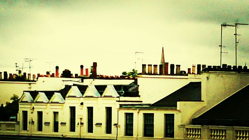 Cityscape City Roof Tops London View From Hotel Mary Poppins Chimneys Chimney