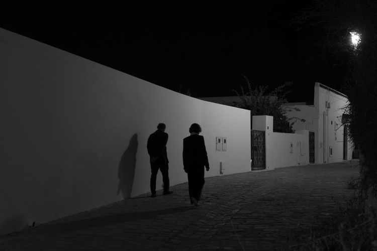 Silhouette Streetphotography Blackandwhite Bw Nightphotography Light And Shadow Shadow Tunisia Breathing Space