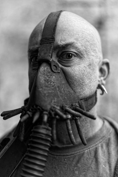 I stare into your soul and rip it out..... Armageddon Bane Black And White Close-up Evil Gas Mask Male Mask Outdoors Piercings Post Apocalyptic Souless Stare