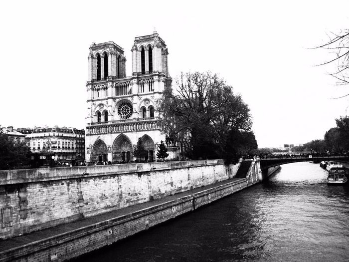 One day, I stopped not far from Notre Dame de Paris & the Seine Paris Notre Dame De Paris La Seine Blackandwhite Cathedrale Cathédrale Notre-dame De Paris France Olympus Pen Olympus Pen Epl7