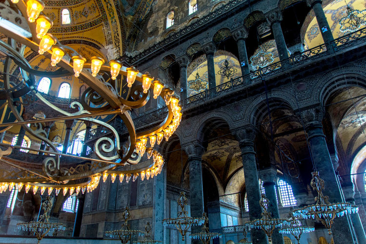 Architectural Feature Architecture Architecture Ayasophia Built Structure Cathedral Columns Famous Place Hagia Sophia History Instanbul Lamp Mosque Old Architecture Place Of Worship Religion Religious Architecture Religious Place Spirituality Travel Destinations