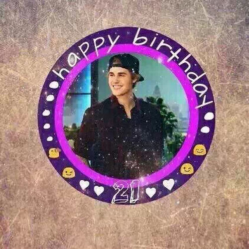 "Cheese! ?Happy birthday to JustinBieber? From 2009?the first time I heart you sing""love you""?then I like you very much?And I will alwas love you forever.??????"