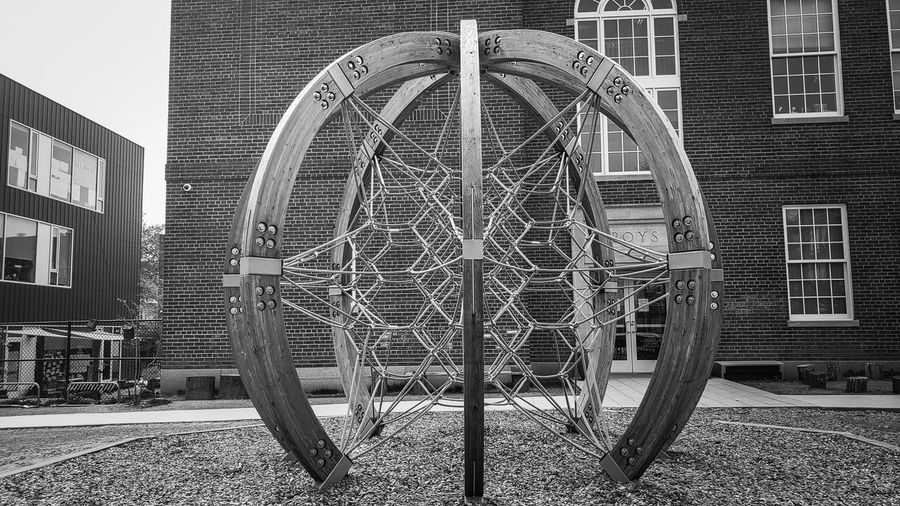 Playground web. Blackandwhite Black And White Blackandwhite Photography Jungle Gym Playground Equipment Playground Amusement Park Arts Culture And Entertainment Architecture Building Exterior Built Structure Outdoor Play Equipment Monkey Bars Schoolyard