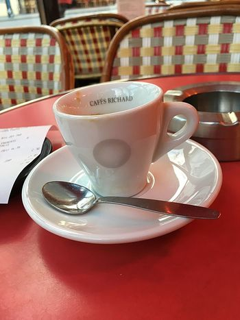 Table Saucer Drink Coffee Cup Food And Drink Still Life Indoors  Refreshment Text Coffee - Drink No People Close-up Day Freshness Gold Built Structure Coffee Ristretto Travel Destinations Cofee Break Food Stories